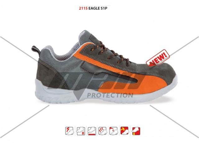 Pantof de protectie cu bombeu de compozit si lamela Eagle , art.A064 S1P ( 2115 )