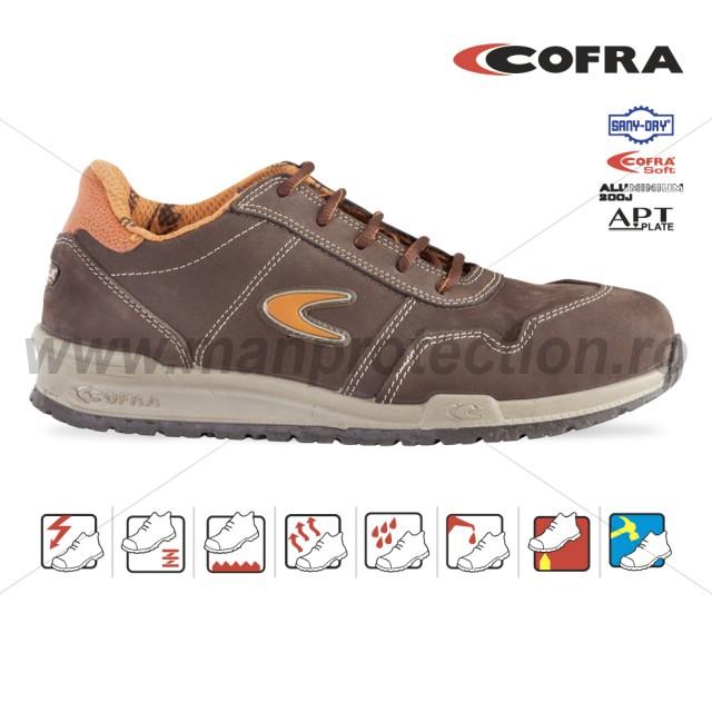 Pantof de protectie cu bombeu aluminiu si lamela, YASHIN , art.19A3 S3