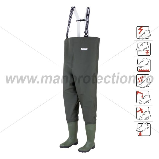Cizme pantalon de protectie Danubio, art.A412 S5 ( 577 )