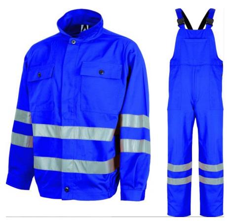 Costum salopeta cu pieptar tercot, 200 g/mp, cu benzi reflectorizante REFLEX, art.5B06