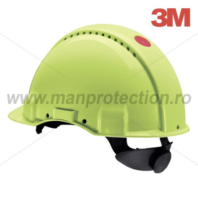 Casca de protectie Uvicator G3000 cu sistem de fixare rotita, verde, art.3D03 ( G3000H-VIZ )