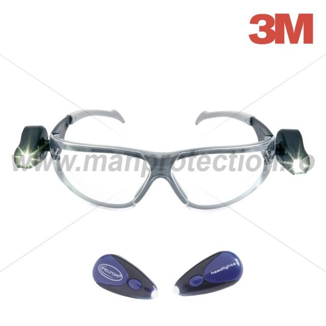 Ochelari de protectie cu lentile incolore si cu lanterne laterale, gama Led Light Vision, art.D322 ( 2892 )