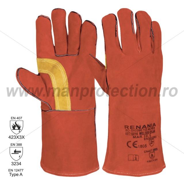 Manusi de protectie pentru sudura ignifugata Welder Kevlar, art.C306 ( 1801K )