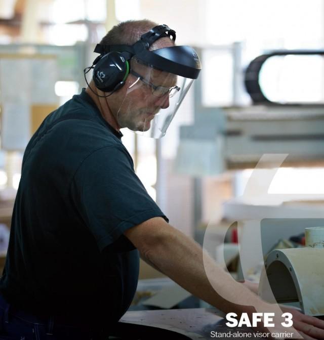Set Viziera profesionala pentru industrie SAFE 3 Vizor PC si suport de cap