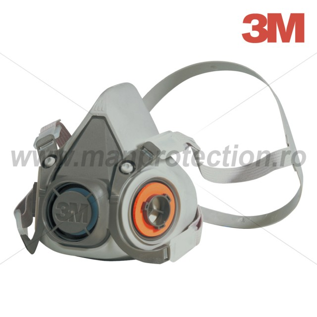 3M 6000 SERIES HALF MASK FOR 2 EXCHANGEABLE FILTERS, SIZE M , ART.D709 (6200)